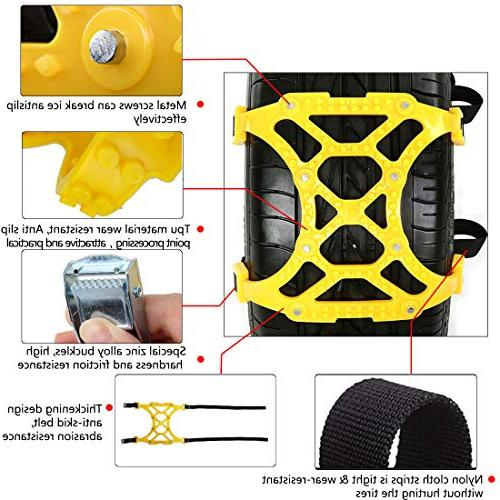 TuhooMall Anti-Skid Car Tyre Car Tire Snow Wheel Mud Security Tire