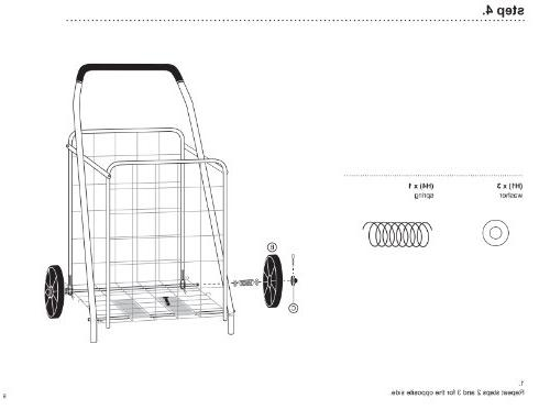 Honey-Can-Do Grocery Utility Cart