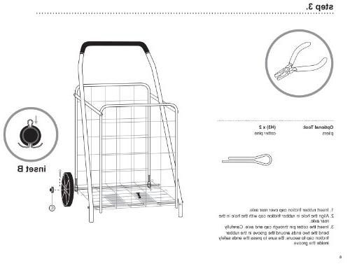 Honey-Can-Do Rolling Grocery Cart, Dual Front Utility Cart