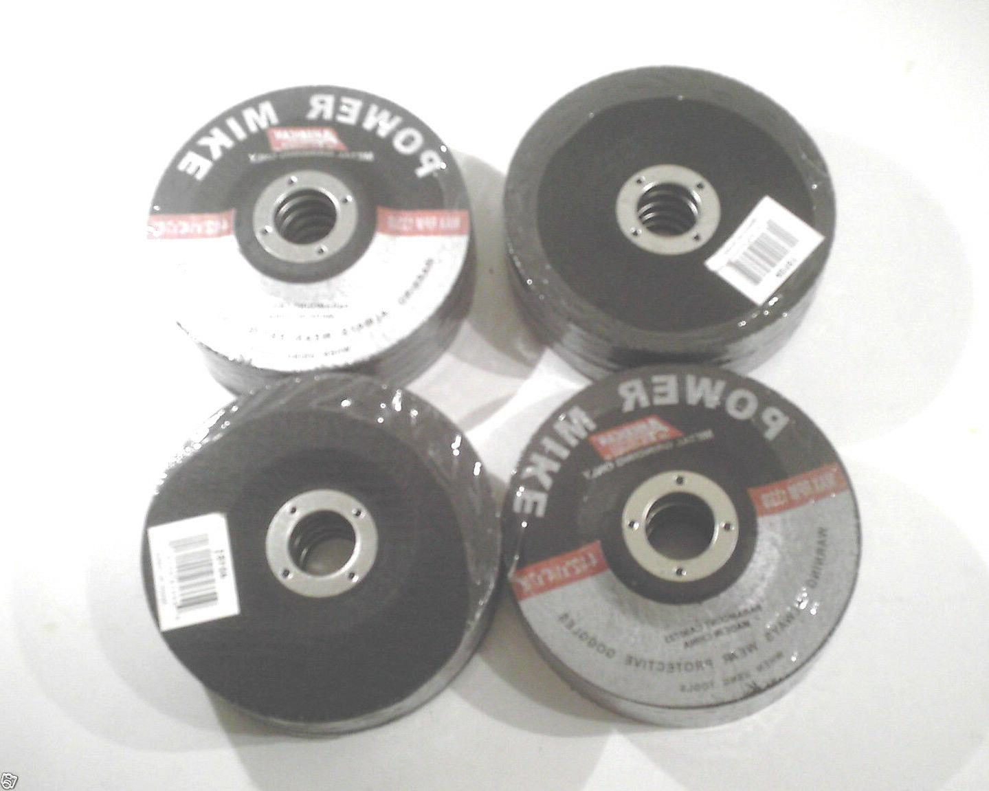 "LOT OF 50-4 1/2"" GRINDING WHEEL/DISC  7/8"" ARBOR  1/4"" THICK"