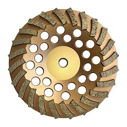 Grinding Wheels for Concrete and Available 4 Inches - Diameter Turbo Diamond Arbor