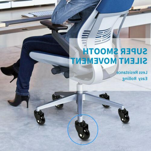 LPHY Office Chair 2'' Smooth Heavy Duty Casters Black
