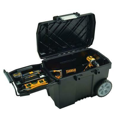 Portable Rolling Box Contractor Chest w/ Plastic 3-Position Tray