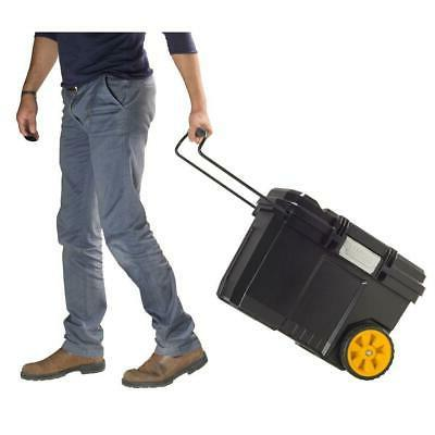 portable rolling tool box contractor chest w