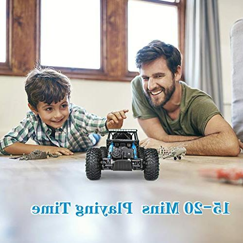 Geacool RC 4WD Remote Control 1:18 Scale RC Crawler Electric Fast Race Monster Truck with RC Buggy Hobby Toys for Adults
