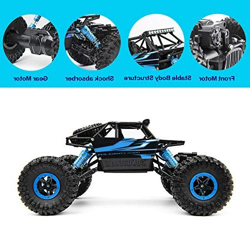 Geacool 4WD High Speed Remote Toy 1:18 RC Crawler Monster RC Buggy Toys Adults