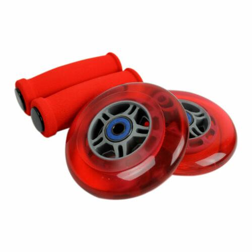 red replacement razor scooter wheels abec 7