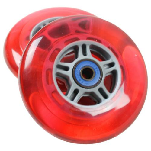 RED Replacement Razor Scooter Wheels, ABEC 7 RED