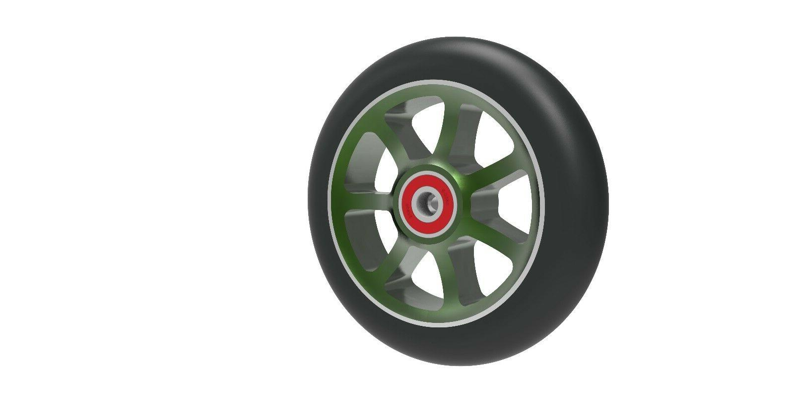 Revolution Spoke Aluminum Pro Scooter Replacement Wheels Pair