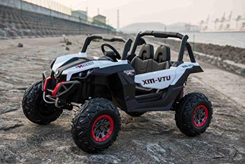 TAMCO Ride Off Road Vehicle, UTV Electric Car for Gift, Giant Motors, Key Engine 3/4/5 Mph, Rear Max 110LB