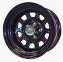 Rock Crawler Series 51 Black Powder Wheel Size 16x8 Bolt Pat