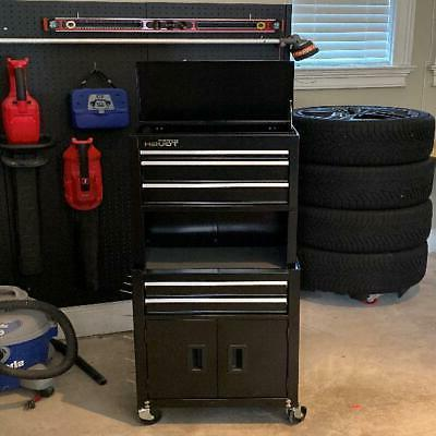 Rolling Tool Chest Storage Cabinet Box Steel Pegboard
