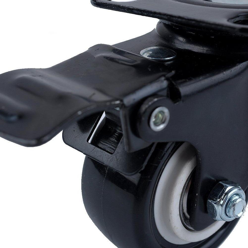 Set of 4 Plate Wheels with Total Lock