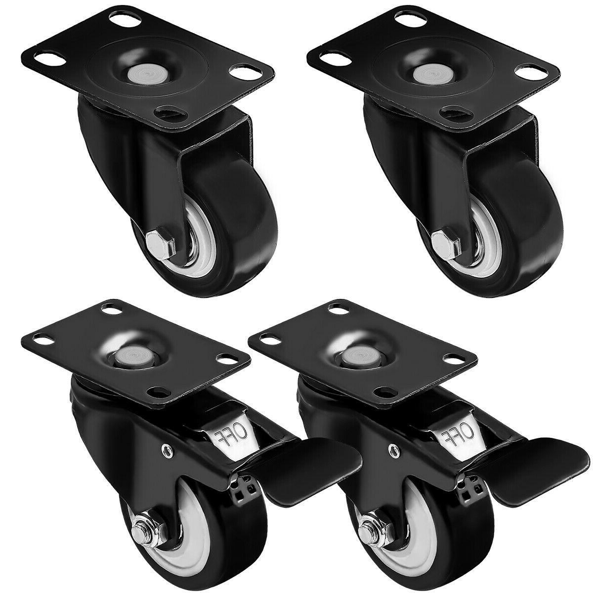set of 4 swivel plate casters 1