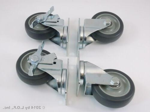 Set 4 Plate Polyurethane Wheels Capacity