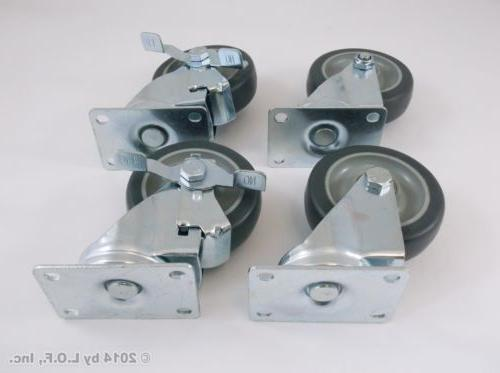 Set 4 Plate with Polyurethane Wheels Capacity