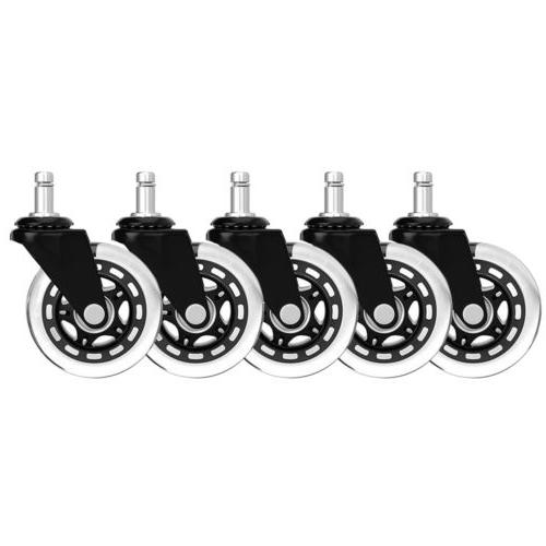 set of 5 office chair caster rubber