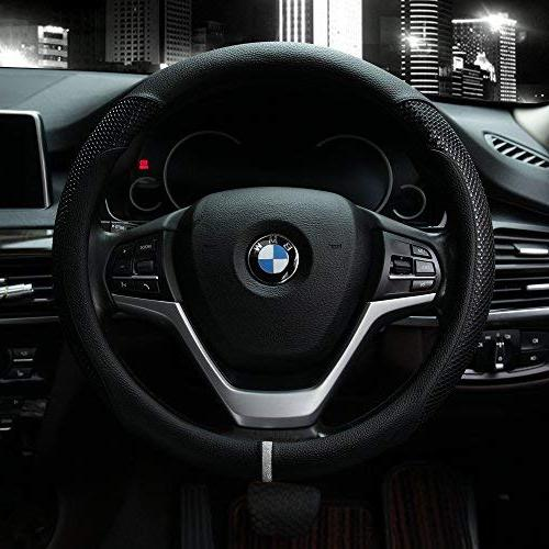 steering wheel cover with microfiber leather
