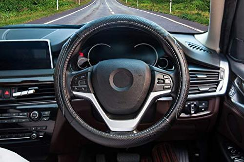 Steering Wheel Covers with Genuine Leather Universal inch SUV