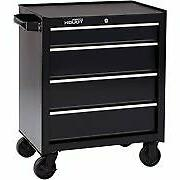 Tool Box with Wheels Cart on Metal Roll Around Large Rolling