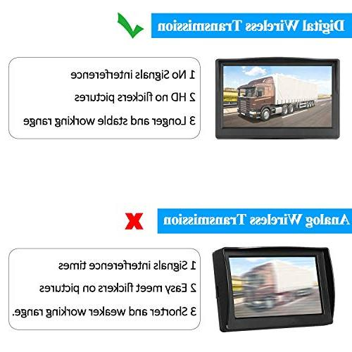 Digital Wireless Camera RV/Truck/Pickup/SUV/5th Wheel/Trailers with 5'' Monitor Use Guide Lines ON/Off
