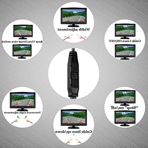 Digital Wireless Backup Camera High-Speed Observation RV/Truck/Pickup/SUV/5th Monitor Rear/Side/Front View Use Lines