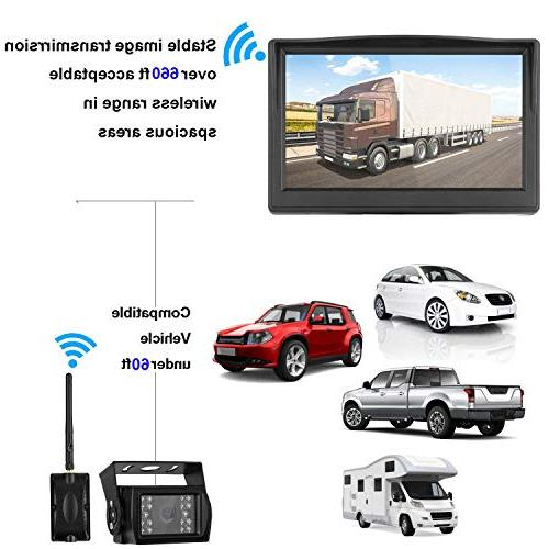 Digital Wireless Backup Camera High-Speed System RV/Truck/Pickup/SUV/5th Monitor Continous/Reversing Use Guide
