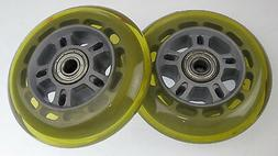 Lot of 2 Replacement 90mm Scooter Wheels Wheel w/ Bearings 9