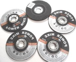 "LOT OF 5 4-1/2"" INCH GRINDING DISC WHEEL X 7/8"" ARBOR X 1/4"""