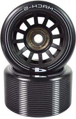 Pacer Mach-5 Wheels with ABEC 5 Bearings - Black - Set of 8