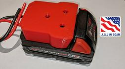 Milwaukee M18 Battery Adapter Holder Dock with Wires for Pow