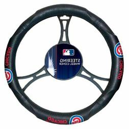 MLB Chicago Cubs Car Truck Suv Synthetic Leather Steering Wh