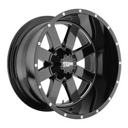 Moto Metal MO962 Gloss Black Wheel with Milled Accent Finish