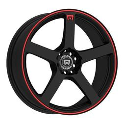 Motegi Racing MR116  Matte Black Finish With Red Accents - 1