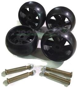 4 Pack Mower Deck Wheels with free Bolts 174873 133957 19340