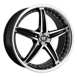 Motegi Racing MR107 Gloss Black Wheel With Machined Face  by