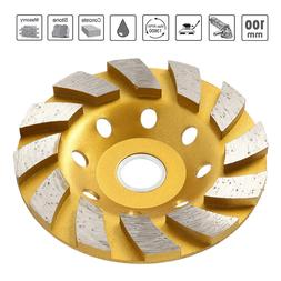 "New 4"" Diamond Segment Grinding Wheel Disc Grinder Cup Concr"
