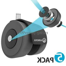 Office Chair Caster Wheels Double Wheel Bearing Design For A