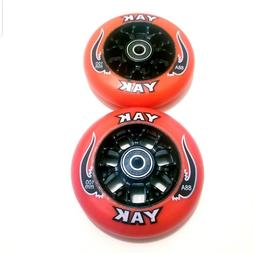 pair 100mm replacement scooter wheels w bearings