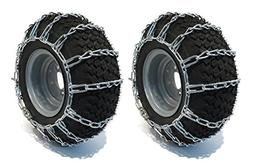 The ROP Shop New Pair 2 Link TIRE Chains 20x10.00x8 for John