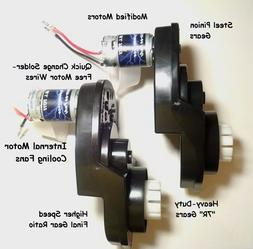 PAIR of Power Wheels Gearboxes and Motors for Jeep Hurricane
