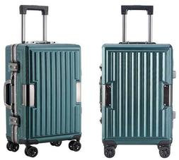 PC material Travel Suitcase With Wheels TSA Lock Trolley Cas