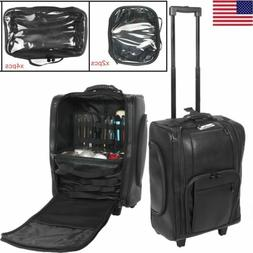Professional Makeup Case Rolling Wheeled Cosmetic Storage Tr