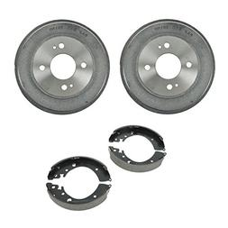 Rear Brake Shoes & 2 Drums Set Kit for 4 Stud Wheels for 01-