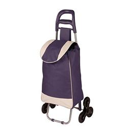 Honey-Can-Do Rolling Bag Cart with Tri-Wheels for Steps