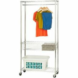Honey-Can-Do Rolling Laundry Station, Chrome