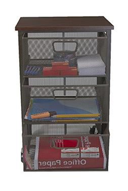 Mind Reader Rolling Storage Cart with 3 Drawers, File Storag