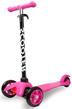 Den Haven Scooter for Kids - Deluxe Aluminum 3 Wheel Glider