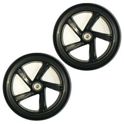 Z-FIRST 2PCS 200mm Adult Scooter Wheels with Abec 9 Bearings