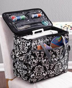 Sewing Machine or Craft Rolling Tote Case Portable Storage w